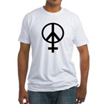 Pro-Woman Female Symbol Peace Sign Fitted T-Shirt