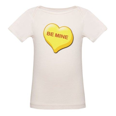 Be Mine Candy Heart  Valentines day Organic Baby T-Shirt by CafePress