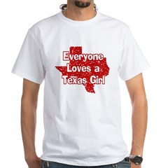 Texas Girl White T-Shirt