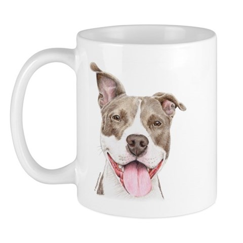 Pitbull Terrier Portrait Mug