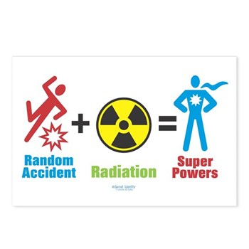 Super Powers Postcards (Package of 8) | Gifts For A Geek | Geek T-Shirts