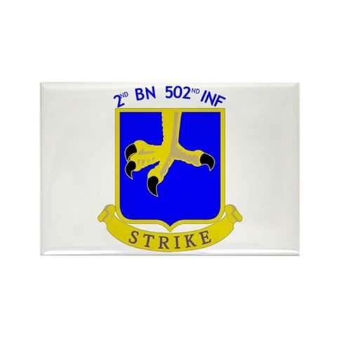 2nd BN 502nd INF  Military Rectangle Magnet 100 pack by CafePress