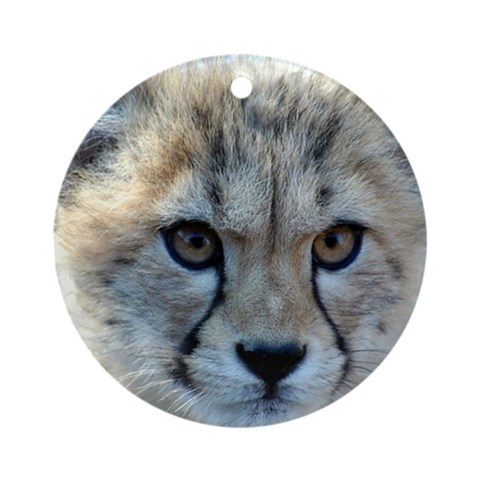 Cheetah Cub Ornament Round Animals Round Ornament by CafePress