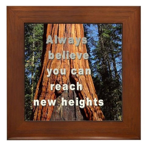 - NEW HEIGHTS Nature Framed Tile by CafePress