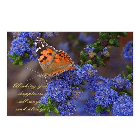 - HAPPINESS ALWAYS Love Postcards Package of 8 by CafePress