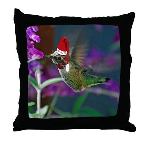 Ho Ho Ho Hummingbird  Nature Throw Pillow by CafePress