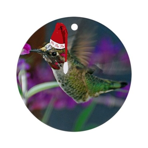 ho ho ho hummingbird ornament round nature round ornament by cafepress