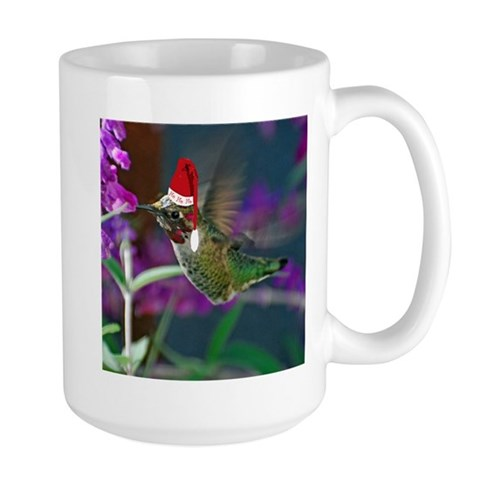 Ho Ho Ho Hummingbird  Nature Large Mug by CafePress