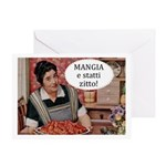 Mangia Greeting Card