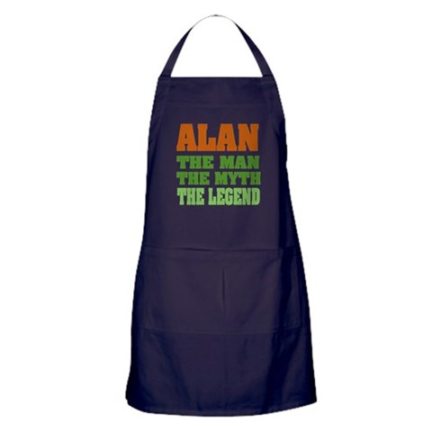 ALAN - The Legend  Funny Apron dark by CafePress