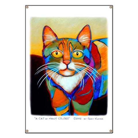 Cat-of-Many-Colors  Pets Banner by CafePress