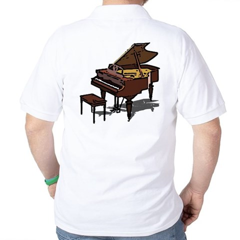 Grand Piano  Music Golf Shirt by CafePress