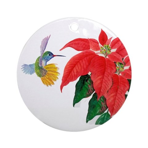Hummingbird ornamnet Hummingbird Round Ornament by CafePress