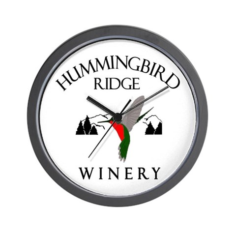 Hummingbird Ridge Winery  Cupsthermosreviewcomplete Wall Clock by CafePress