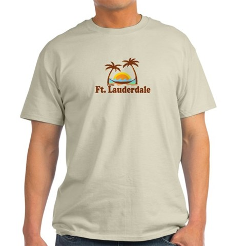 Fort Lauderdale FL.  Fort lauderdale Light T-Shirt by CafePress