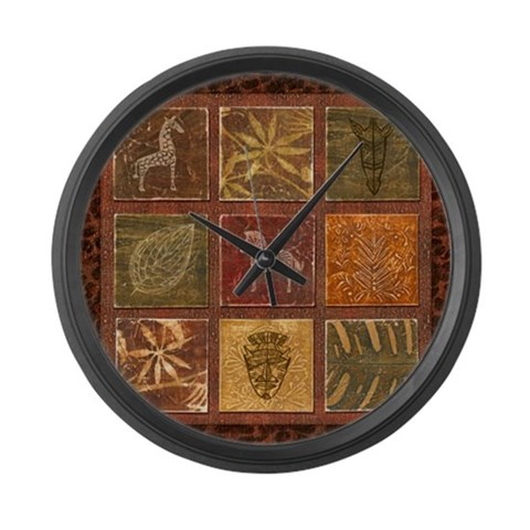 Animal Large Wall Clock by CafePress