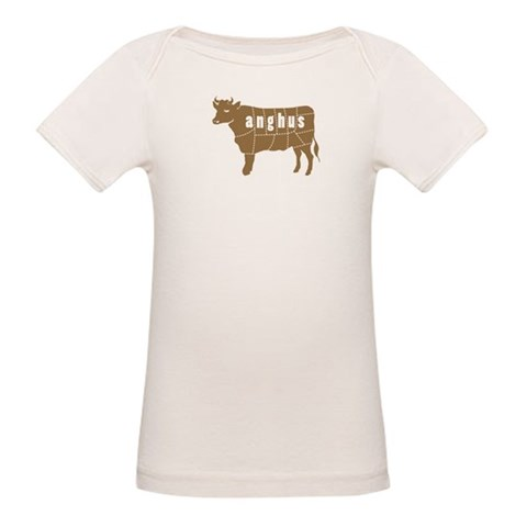 Anghus  Cow Organic Baby T-Shirt by CafePress