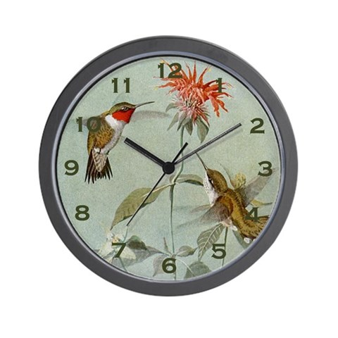 Hummingbird Clock Nature Wall Clock by CafePress