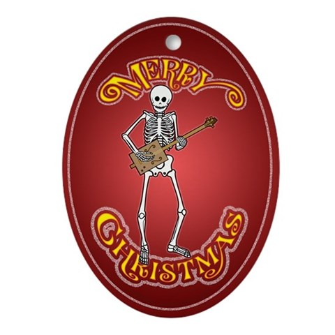 Buy cigars gifts christmas - Cigar Box Skeleton Guitarist Christmas ornament