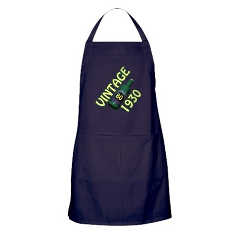 80th Birthday  80th birthday Apron dark by CafePress