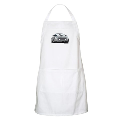 2002 05 Ford Thunderbird Silver  Hobbies Apron by CafePress
