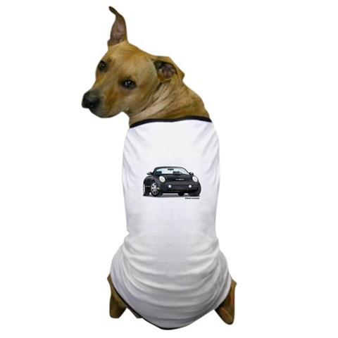 2002 05 Ford Thunderbird Blk  Hobbies Dog T-Shirt by CafePress