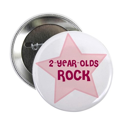 2-Year-Olds Rock  Cute 2.25 Button 10 pack by CafePress