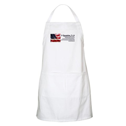 2 Chronicles 7:14  Christian Apron by CafePress