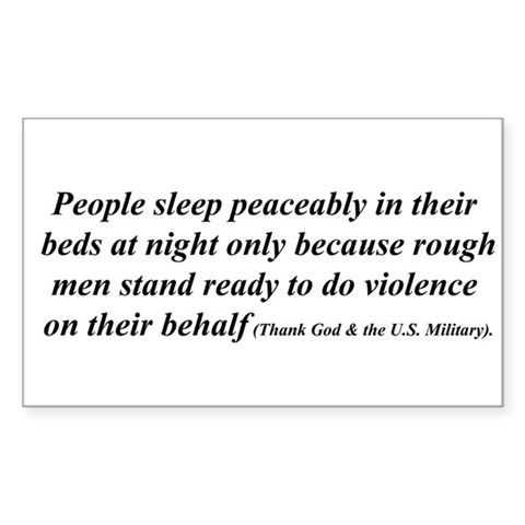 Thanking God and the US Military Military Rectangle Sticker 10 pk by CafePress