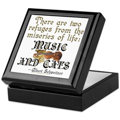 Music and Cats Tile Box