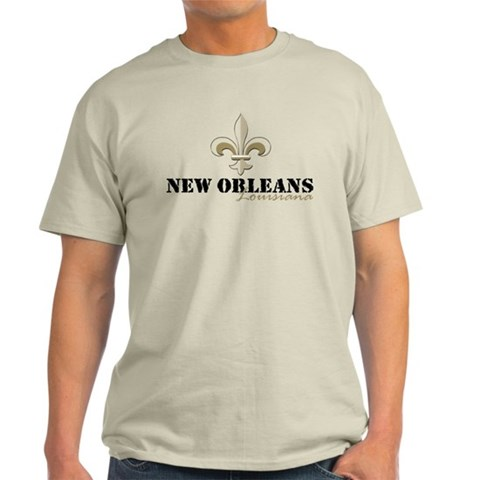 New Orleans, Louisiana gold  New orleans Light T-Shirt by CafePress