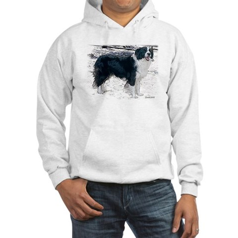Border Collie in Snow Breed Hooded Sweatshirt by CafePress