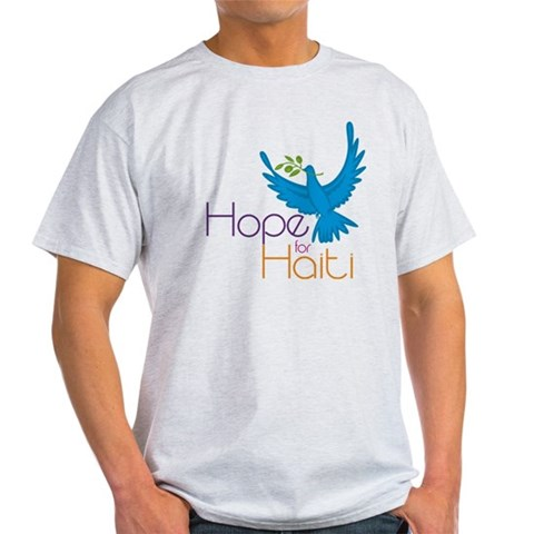 Hope for Haiti  Cupsreviewcomplete Light T-Shirt by CafePress
