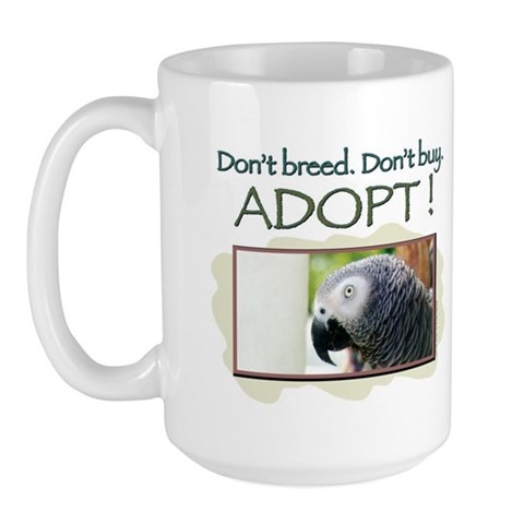 - African Grey African Large Mug by CafePress