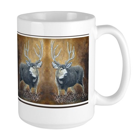 Deer oil painting Large Mug by CafePress.com 430173779