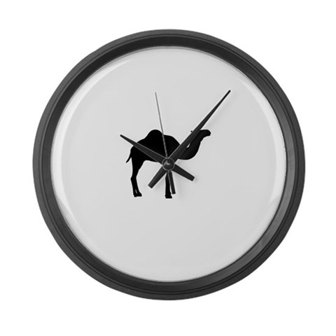 Camel  Africa Large Wall Clock by CafePress