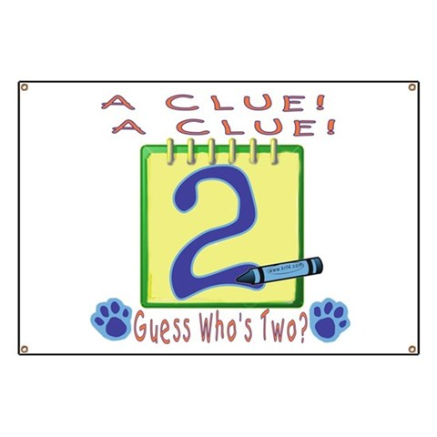 A Clue   Banner by CafePress