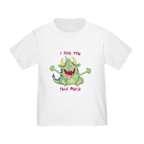 Product Image of Valentine Monster Toddler T-Shirt
