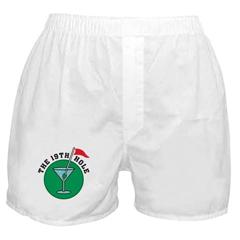19th Hole  Golf Boxer Shorts by CafePress