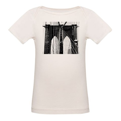 Brooklyn Bridge Cables  Vintage Organic Baby T-Shirt by CafePress