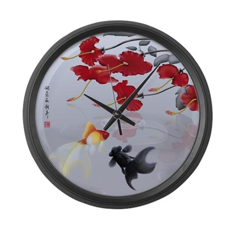 Asian Inspirations Tranquility  Japanese Large Wall Clock by CafePress
