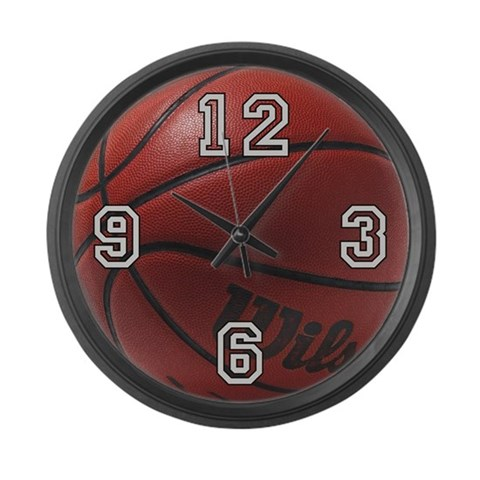 Basketball  Sports Large Wall Clock by CafePress