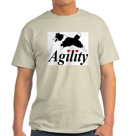 BC's Love Agility Ash Grey T-Shirt Dogs Light T-Shirt by CafePress