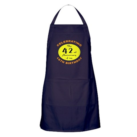 60th Birthday Anniversary  Funny Apron dark by CafePress