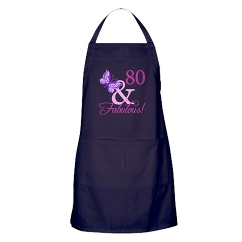 80  Fabulous Plumb  Birthday Apron dark by CafePress