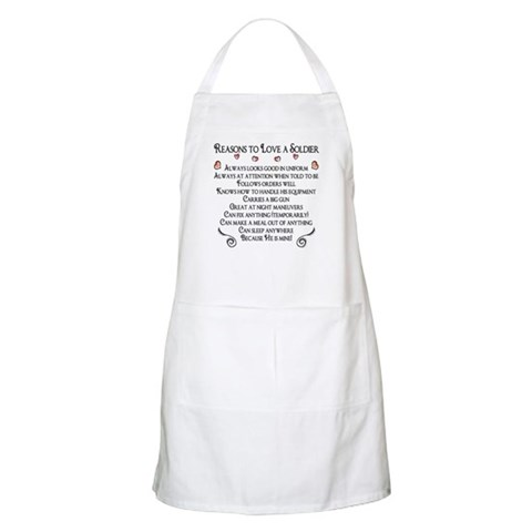 10 Reasons to love a soldier BBQ  Military Apron by CafePress