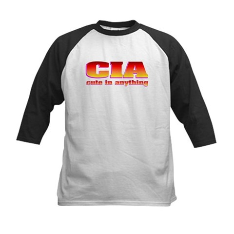 CIA cute in anything Funny Kids Baseball Jersey by CafePress