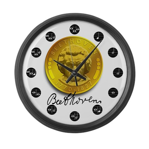 Beethoven's  Classical music Large Wall Clock by CafePress