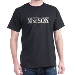 Masonic Marble Black T-Shirt