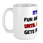 Fun & Games - Pregnant Large Mug